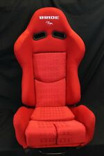 BRIDE GIAS V1 Low Max RED Gradation Cloth Reclining Racing Seat w/ Slider PAIR