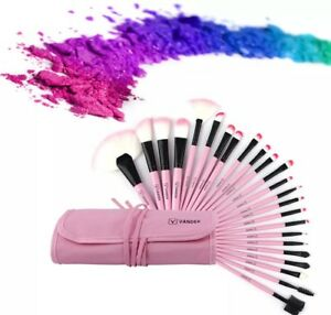Vander pink 24 pcs makeup brush with pouch