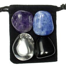 AUTISM SUPPORT Tumbled Crystal Healing Set = 4 Stones + Pouch + Description