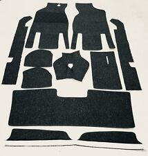 Autoteppich Komplettaustattung für Opel Kadett A Limo 1962-65 schwarz Schlinge
