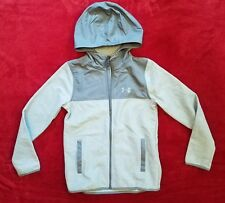 Under Armour Boys Medium Grey ColdGear Infrared Performance Hooded Jacket(26-15