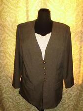 Dress Savvy Womens Blazer Plus Size 20W Sage Pinstripe Dickey A45