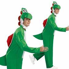 Adult Super Mario Yoshi Costume Dinosaur Fancy Dress Nintendo Video Gamer Outfit