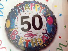 Happy 50th birthday colourful foil balloon #114168