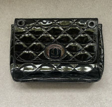lulu guinness black leather bag