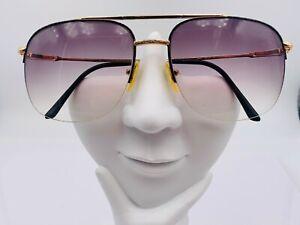 Vintage Advantage Eyewear 9464 Gold Gray Metal Aviator Sunglasses FRAMES ONLY