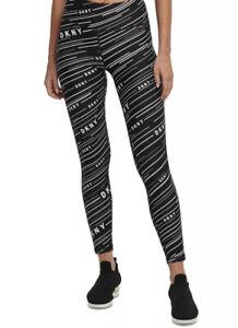 DKNY Women's Printed High Waist Leggings Black Size Medium Free💥Shipping