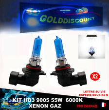 kit 2 hb3 9005 55w halogene  xenon gaz  6000k 12v eclairage plus blanc *