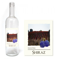 Wine Bottle Labels Self Adhesive Home Made Brew WaterProof Label 30 PACK  Shiraz