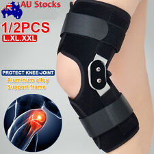 Adjustable Wrap Around Hinged Knee Brace Support Guard Running Weightlifting OZ