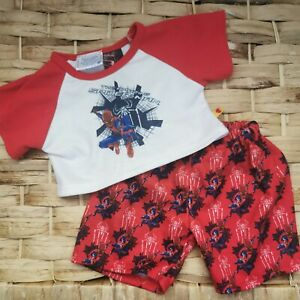 2012 Build A Bear Spiderman Marvel Outfit Tshirt And Pants