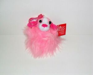"""RUSS LIL PEEPERS LIGHT PINK HAIR SOPHIA PLUSH 3"""" CLIP ON FUZZBALL NEW WITH TAG"""