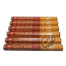 Hem Indien Musc Encens Hexagonale Tubes Packs de 6 X 20 Bâtonnets = 120 Stick -