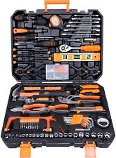 CARTMAN Tool Set 168Pcs Orange, General Household Hand Tool Kit with Plastic Tbx