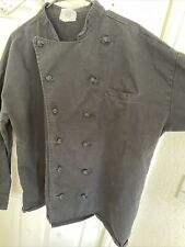 Uncommon Threads Executive Chef Coat Black size Xl Long Sleeve