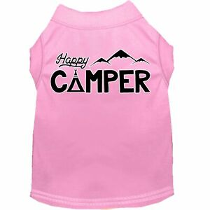 Mirage Pet Products Happy Camper Screen Print Dog Shirt Light Pink Lg (14)