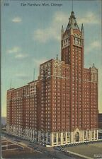 OLD VINTAGE THE FURNITURE MART IN CHICAGO ILLINOIS 1944 LINEN POSTCARD