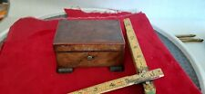 Antique footed wood music box japan Tokiwo cylinder Musique Airs no 32