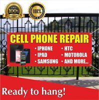 CELL PHONE REPAIR Banner Vinyl / Mesh Banner Sign Flag We Fix Tablet Accessories
