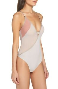Cosabella Mixed-Mesh Keyhole Bodysuit MIXMS2212 Grey Space