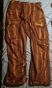 Nice Volcom Trobson Nimbus Series 8K Brown Snowboard Pant sz L Large