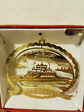 Anderson Island Ferry Steilcoom Washington Brass Christmas Ornament
