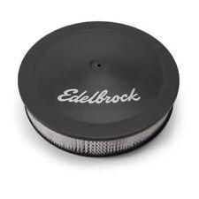 """Edelbrock 1223 Pro-Flo Air Cleaner 14"""" Dia. 3"""" Element 3/8"""" Deeper Flange Black"""