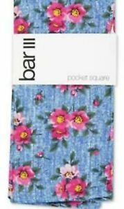 Bar Iii Men's Landell Floral Pocket Square Pink