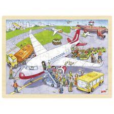 Puzzle Puzzle en Bois Puzzle à Assembler Aéroport 96 Pièces Goki 57544