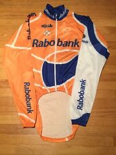 Rare Team Rabobank Colnago Cycling Rain Jacket by AGU of Italy Sz S
