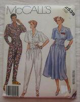 Vintage Jumpsuit & Dress Sewing Pattern*McCalls 2539*Sz 14*UNCUT/FF*retro 80s