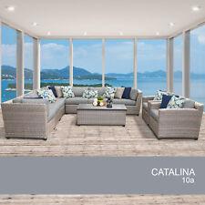 Catalina 10 Piece Outdoor Wicker Patio Furniture Set 10a