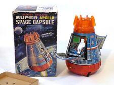 1960s Tin Japan SUPER APOLLO SPACE CAPSULE EXC in Box Works!!