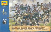 ZVESDA 1/72 Scale RUSSIAN HEAVY ARTILLERY W/CREW - Napoleonic wars