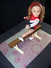 "BALANCE BEAM GYMNASTIC SET fits American Girl Doll & all 18"" dolls Mat"