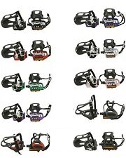 PAIR BICYCLE PEDALS W / TOE CLIPS STRAPS  MTB ROAD TRACK CYCLING BIKES