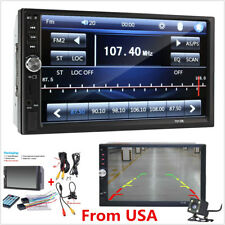 "7"" Touch Screen 2 Din FM Bluetooth Radio Audio Stereo Car MP5 Player + HD Camera"