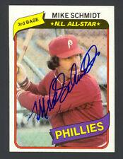 Mike Schmidt 1980 Topps #270 - Phillies - Signed Autograph Auto - Mint