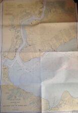 ORIG 1943 RARITAN BAY NEW JERSEY SOUTHERN PART ARTHUR KILL STATEN ISLAND NY MAP