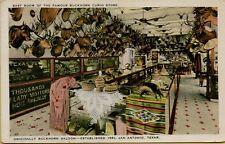 1932 Interior Buckhorn Saloon Curio Store Taxidermy San Antonio TX Postcard C9