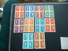 China Gymnastics By Radio Mint Blocks Of Four Set 1952
