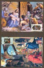 Vatican City Sc# 1399-1400: Christmas 2008 on 2 Maxi Cards