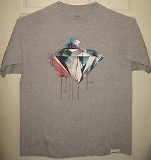 DIAMOND SUPPLY CO Shirt XL Paint Drip Logo Street Wear DSC Shine On OOP HTF RARE