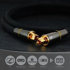 1,5m Premium Toslink Kabel Nylon & Metallstecker Optisches Digital SPDIF Audio