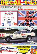 DECAL 1/43 ROVER 3500 VITESSE TONY POND MANX R. 1984 3rd (01)