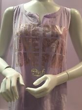 NWT VICTORIA SECRET PINK TANK IN LIGHT PURPLE w GOLD PINK LOGO ON FRONT, MEDIUM