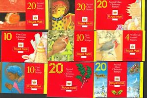 NINE BAR CODE CHRISTMAS BOOKLETS LESS FACE VALUE COMPLETE AS ISSUED POST FREE