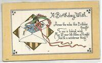 27. Postcard - E. Von H. - Artist Signed Birthday Greeting, divided back, c.1909