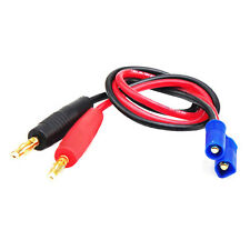 EC3 Male TO 4mm Banana Bullet Plug Charge Charging Cable For Lipo Battery I
