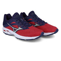 Mizuno Womens Wave Rider 23 Running Shoes Trainers Sneakers - Blue Red Sports